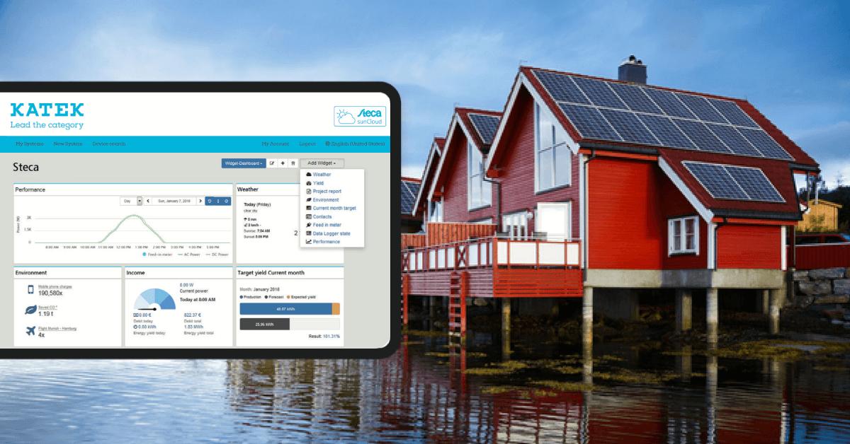PV white label monitoring portal for Steca by KATEK